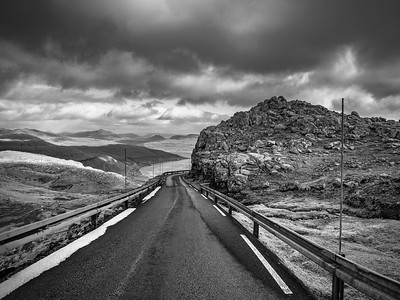 Faroe Road toe the Sea 2   Black and White Photography by Wayne Heim