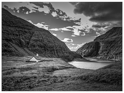 Faroe Landscape  11a  black and white Photography by Wayne Heim