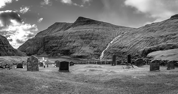 Faroe Cemetery   Black and White Photography by Wayne Heim