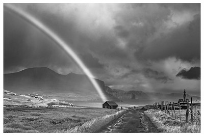 Faroe Rainbow 3    Black and White Photography by Wayne Heim
