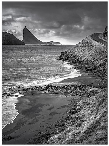Faroe Coast 4  Black and White Photography by Wayne Heim
