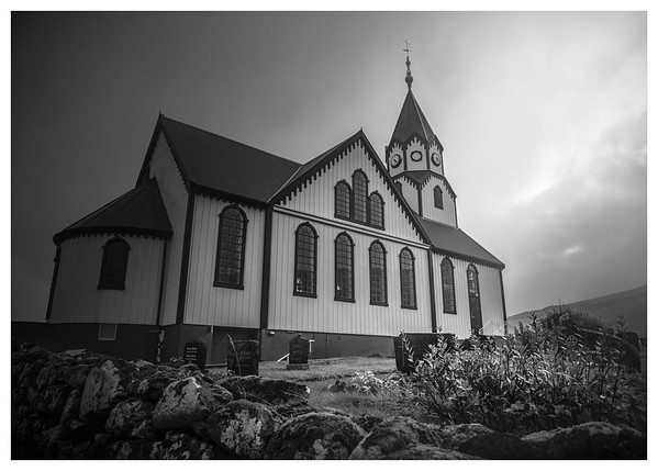 Faroe Church   Black and White Photography by Wayne Heim