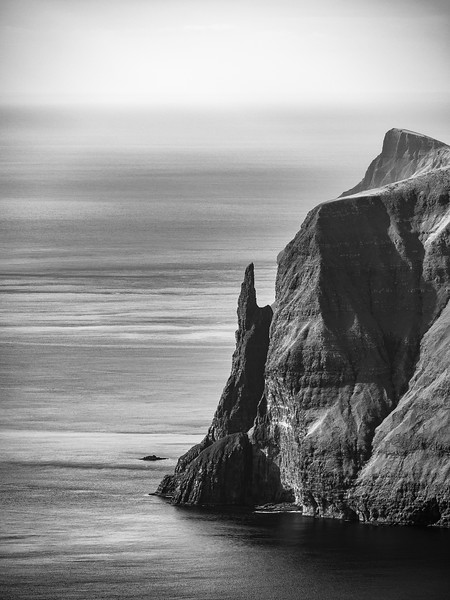 Faroe Coast 18     Black and White Photography by Wayne Heim