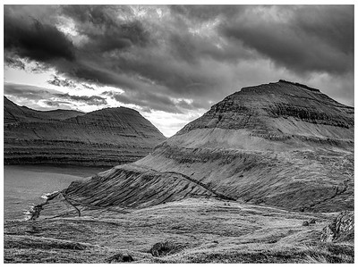 Faroe Landscape 10   Black and White  Photography by Wayne Heim