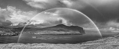 Faroe Rainbow   Black and White Photography by Wayne Heim