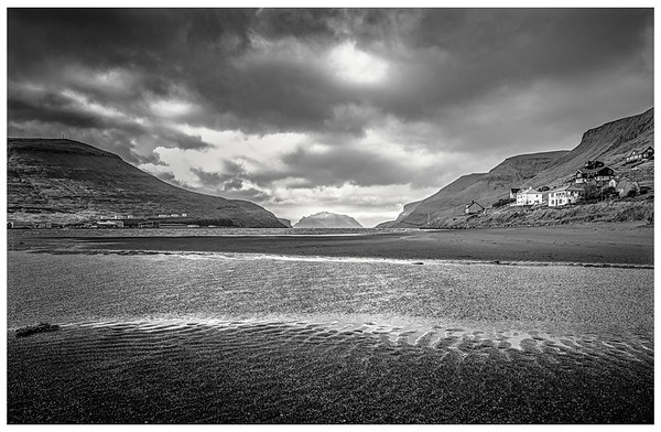 Faroe Landscape   Black and White Photography by Wayne Heim