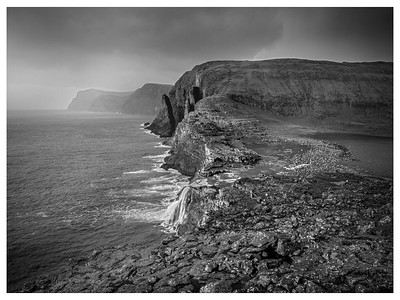 Faroe Coast 15a   Black and White Photography by WAyne Heim