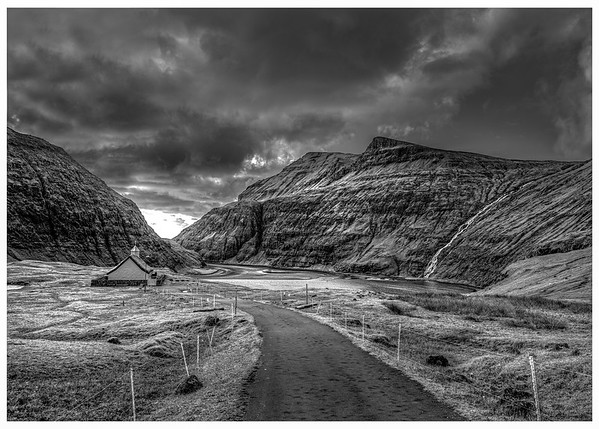 Faroe Landscape 11  Black and White Photography
