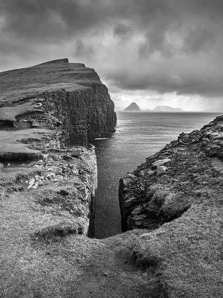 Faroe Coast 12    Black and White Photography by Wayne Heim