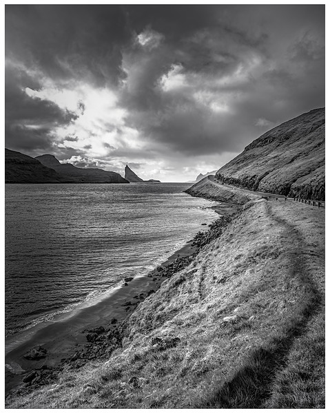 Faroe Coast 2  Black and white  Photography by Wayne Heim