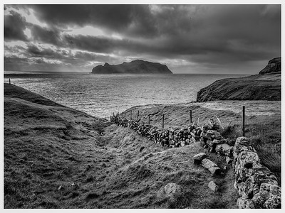 Faroe Coast 8  Black and White Photography by Wayne Heim by Wayne Heim