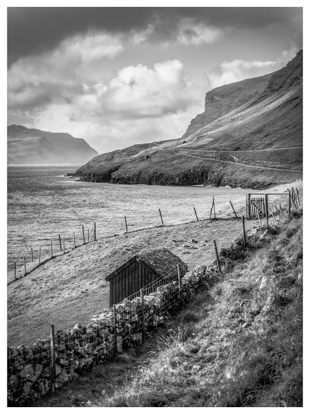 Faroe Coast 5     Black and White Photography by Wayne Heim