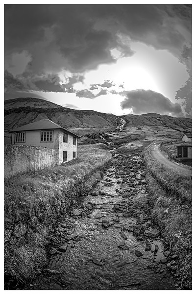 Faroe Landscape  12   black and white Photography by Wayne Heim