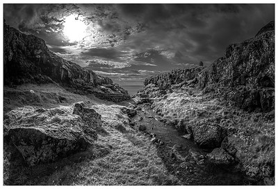 Faroe Stream 3    Black and White Photography by Wayne Heim