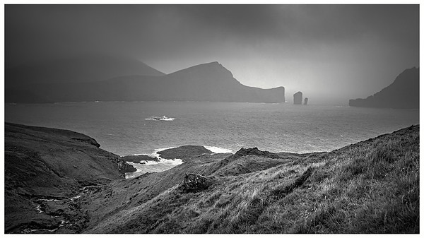 Faroe Coast 9   Black and White Photography by Wayne Heim