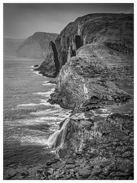 Faroe Coast 15   Black and White Photography by Wayne Heim