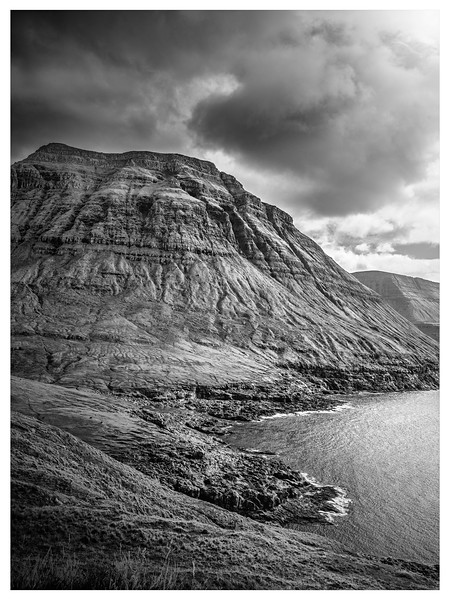 Faroe Coast  20     Black and White Photography by Wayne Heim
