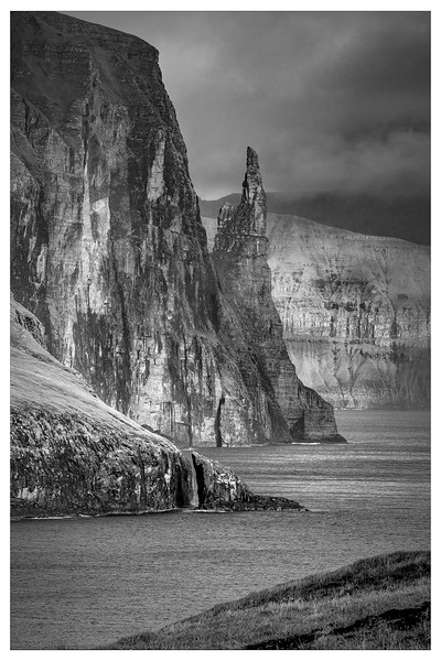 Faroe Coast  16     Black and White Photography by Wayne Heim