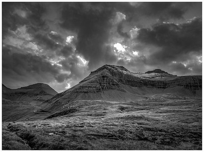 Faroe Landscape  9      Black and White Photography by Wayne Heim