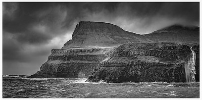 Faroe Coast 7   Black and White Photography by Wayne Heim