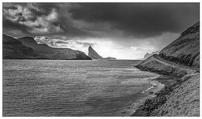 Faroe Coast 3   Black and White Photography by Wayne Heim