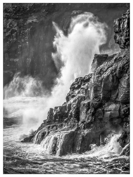 Wavers Crash in the Faroes 7    Black and White Photography by Wayne Heim