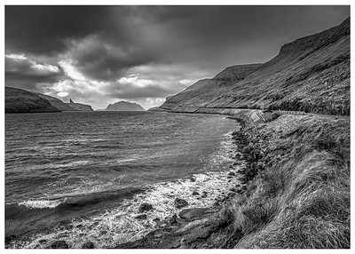 Faroe Coast   Black and White Photography by Wayne Heim