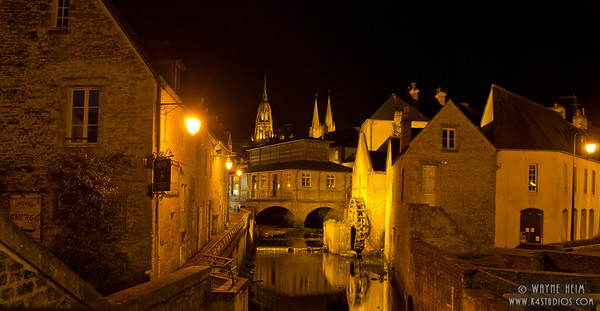 French Canal by Night  Photography by Wayne Heim