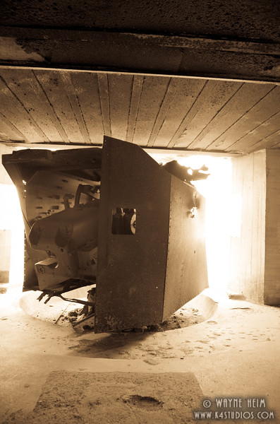 German Gun Emplacement   Photography by Wayne Heim