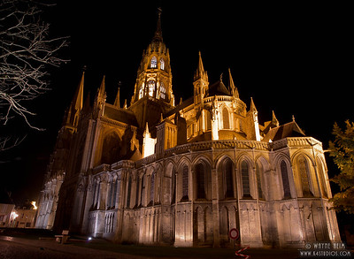 Notre Dame at Night  Photography by Wayne Heim