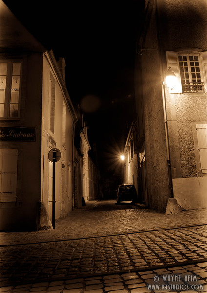 Paris Street at Night   Photography by Wayne Heim