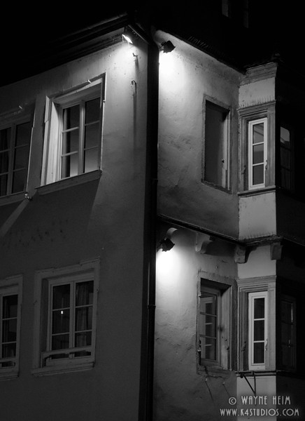 Apartment Windows in Paris   Black and White Photography by Wayne Heim