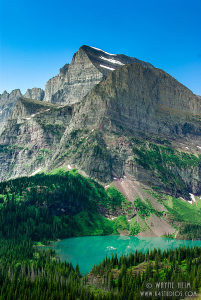 Vertical View of Mountain Lake    Photography by Wayne Heim
