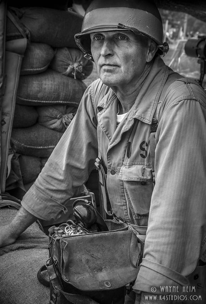 Radio Operator    black & White Photography by Wayne Heim