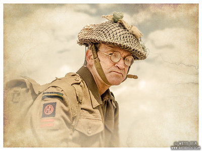 Portrait of Canadian Reenactor  Photography by Wayne Heim