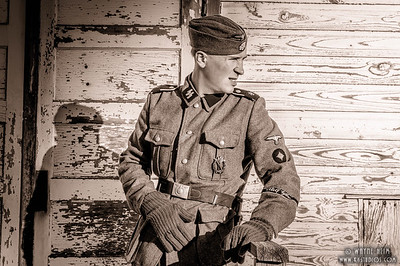 Portrait of an SS Soldier   Black & White Photography by Wayne Heim