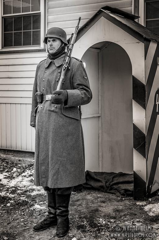 Cold Guard Duty   Black & White Photography by Wayne Heim
