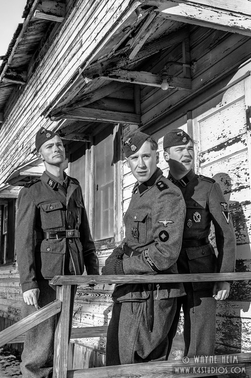 Three German Reenactors   Black & White Photography by Wayne Heim