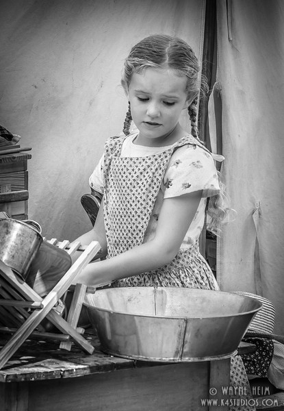 Doing Dishes   Black & White Photography by Wayne Heim