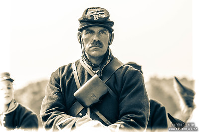 Portrait of Civil War Soldier   Black & White  Photographs by Wayne Heim