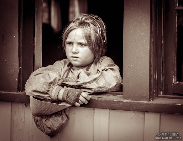Young Girl as Reenactor    Photography by Wayne Heim