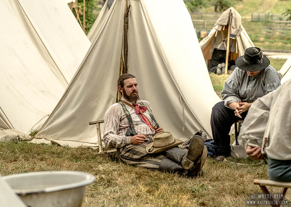 Relaxing in Camp    Photography by Wayne Heim