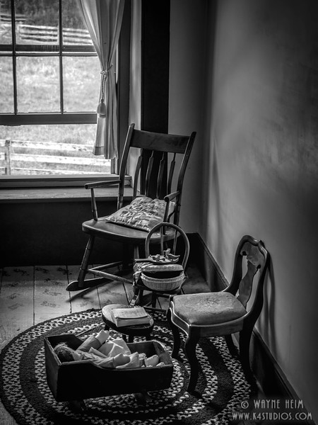 Sitting Area - Black & White Photography by Wayne Heim