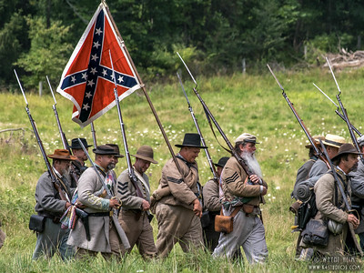 Confederate Soldiers on the March     Photography by Wayne Heim