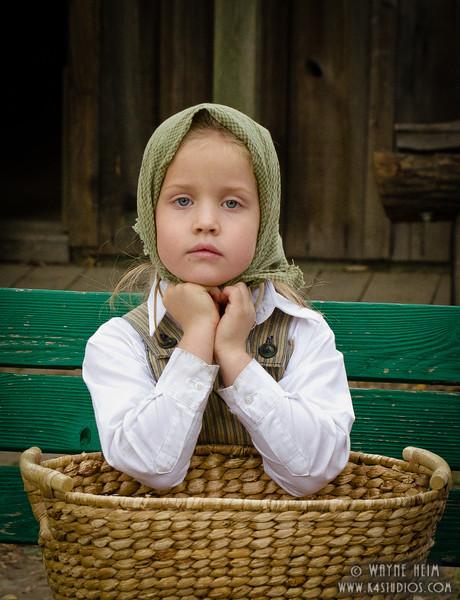Little Gal in War     Photography by Wayne Heim