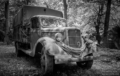 Transport Truck    Black & White Photography by Wayne Heim