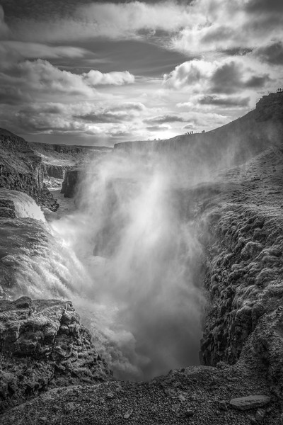 Gullfloss in B & W   Black and White Photography by Wayne Heim