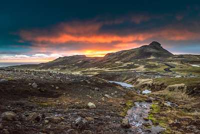 Sunset in Iceland    Photography by Wayne Heim