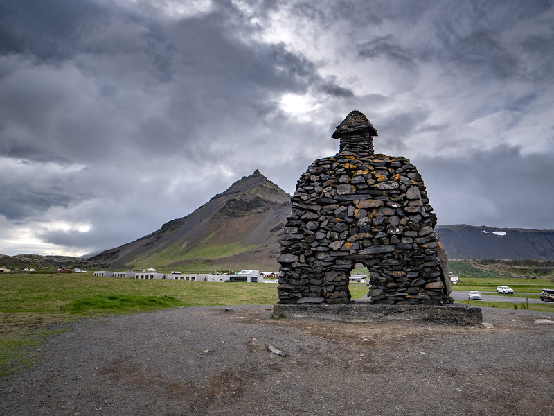 Stone Marker in Iceland  Photography by Wayne Heim