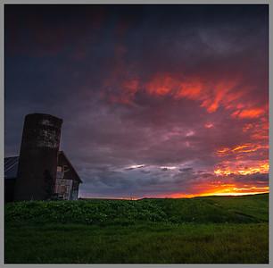 Barn at Sunset   Photography by Wayne Heim